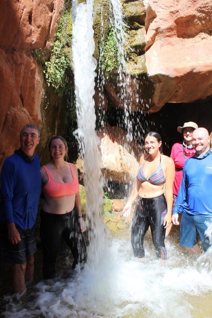 A dip under Clear Creek Falls