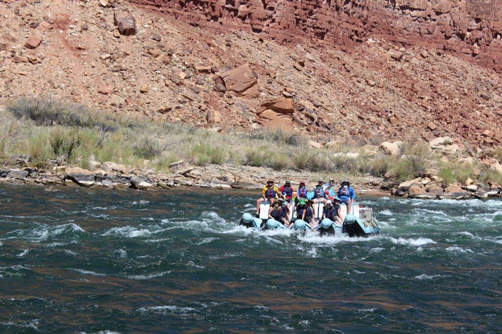Navigating House Rock rapids