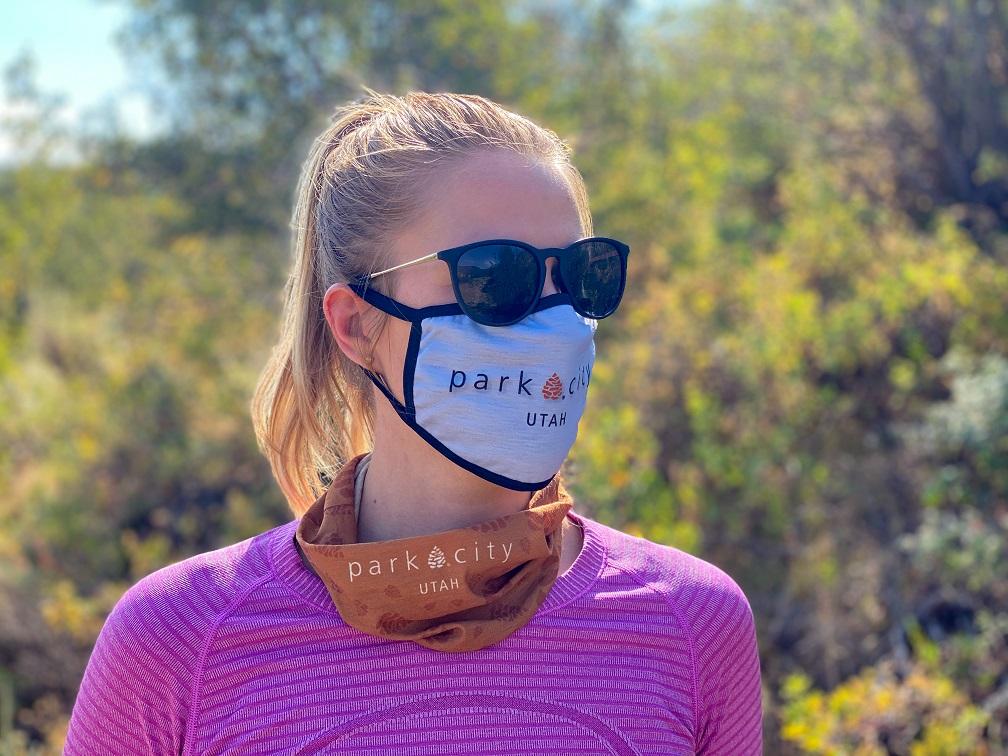 Face masks being worn outdoors in Park City. (Park City Chamber/Bureau)
