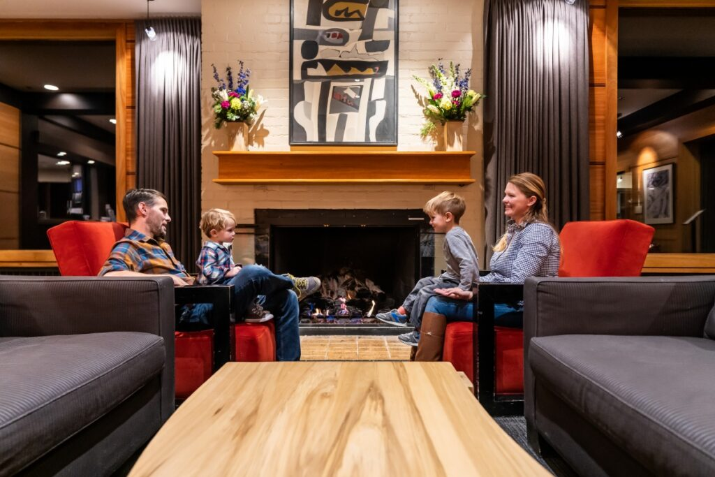 Family in Alta Lodge Lobby