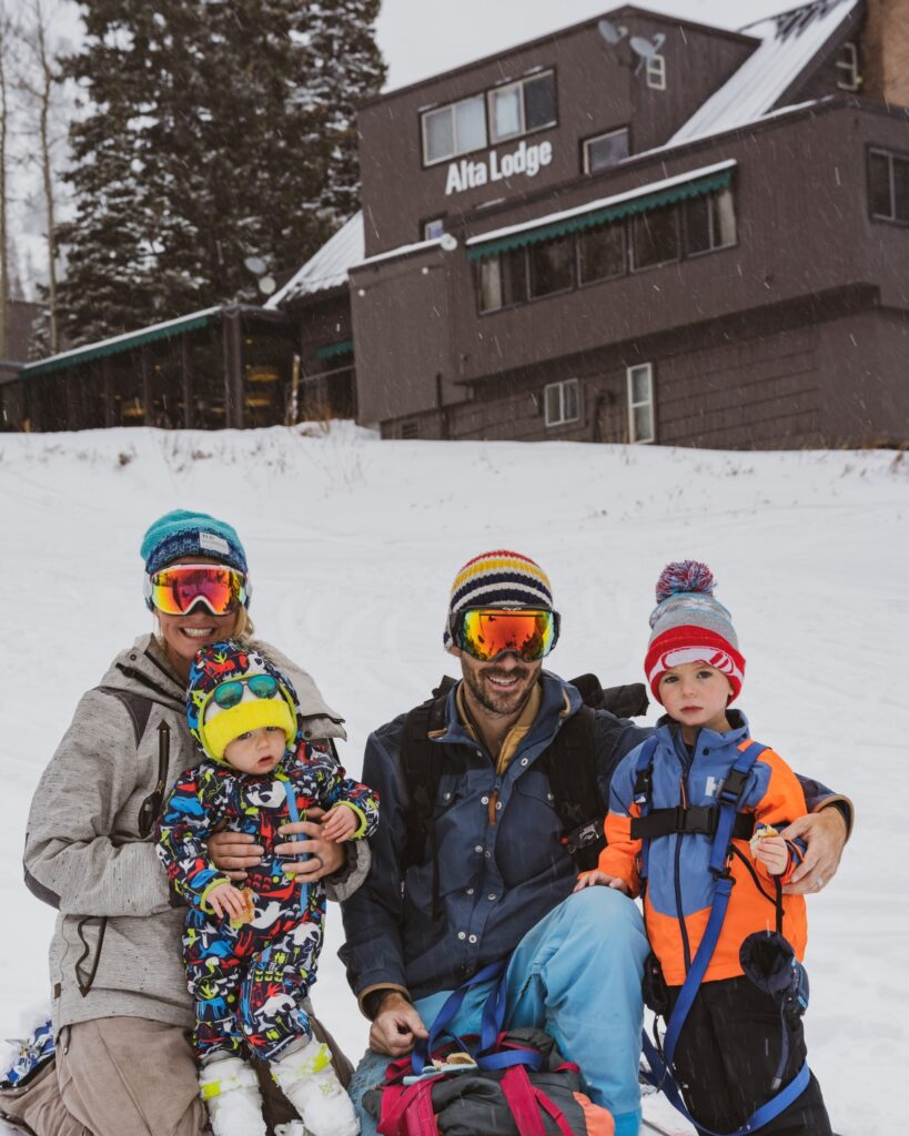 Family in Snow atAlta Lodge
