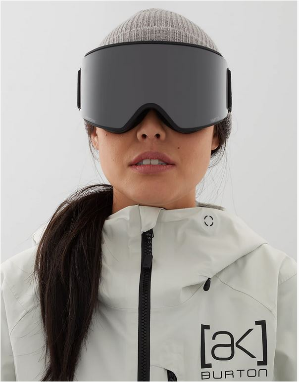 Ski goggles and magnetic fasemask designed for women by Anon
