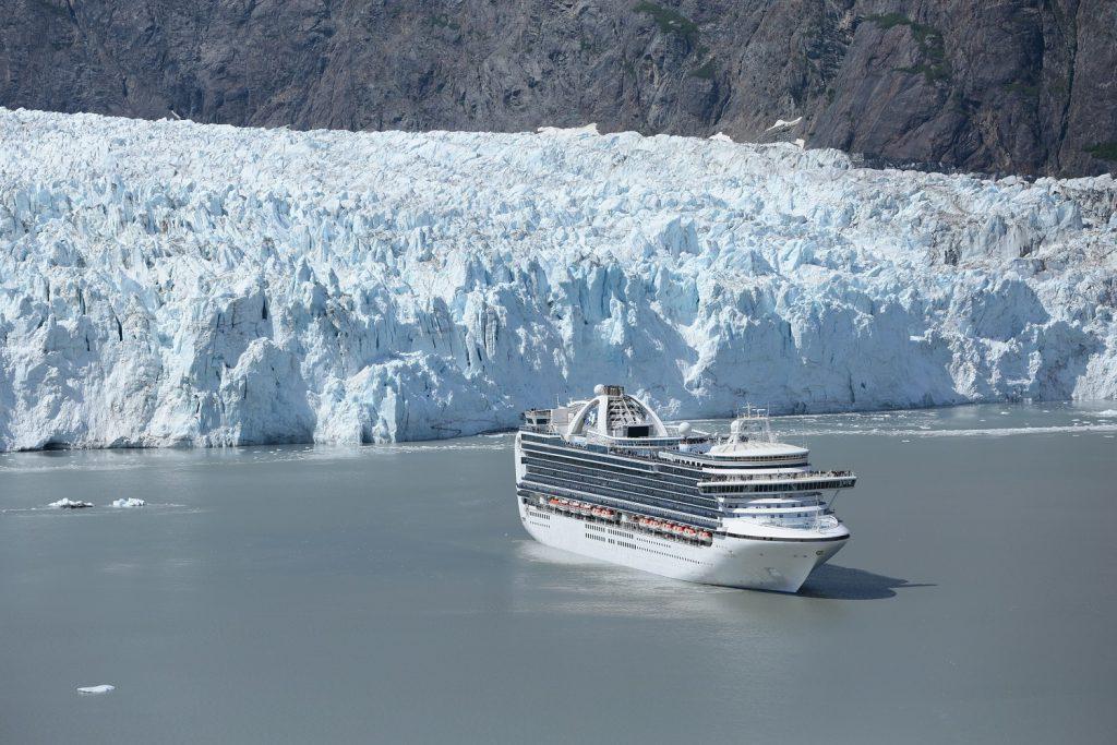 A Princess Cruise visits Glacier Bay in Alaska
