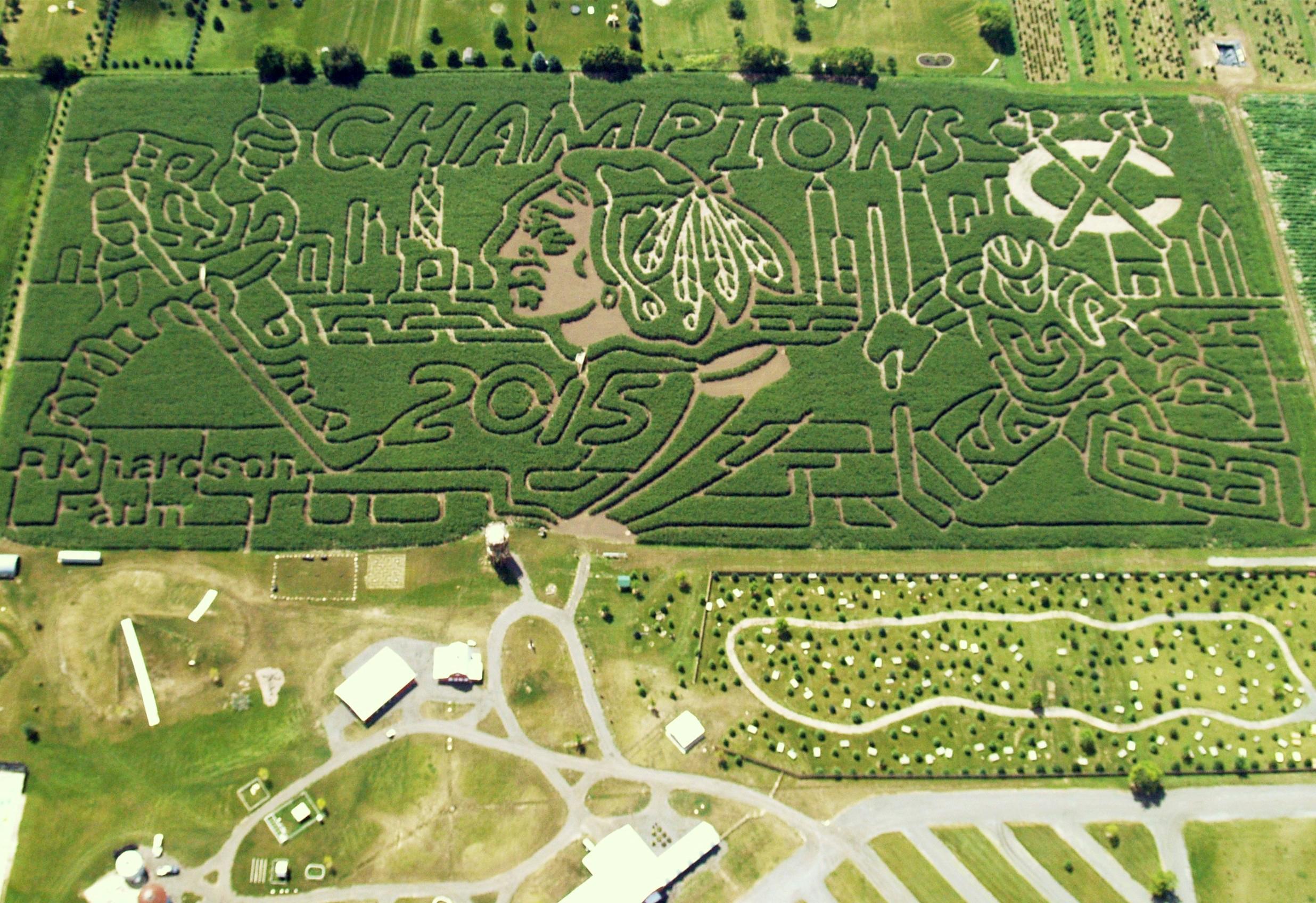 Corn maze at Richardson Adventure Farm near Chicago