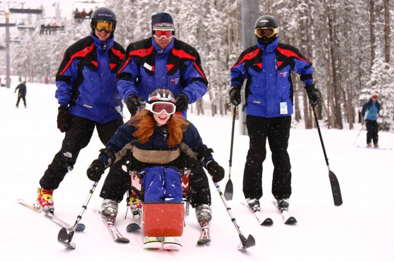 Adaptive skiing at Breckenridge Outdoor Education Center