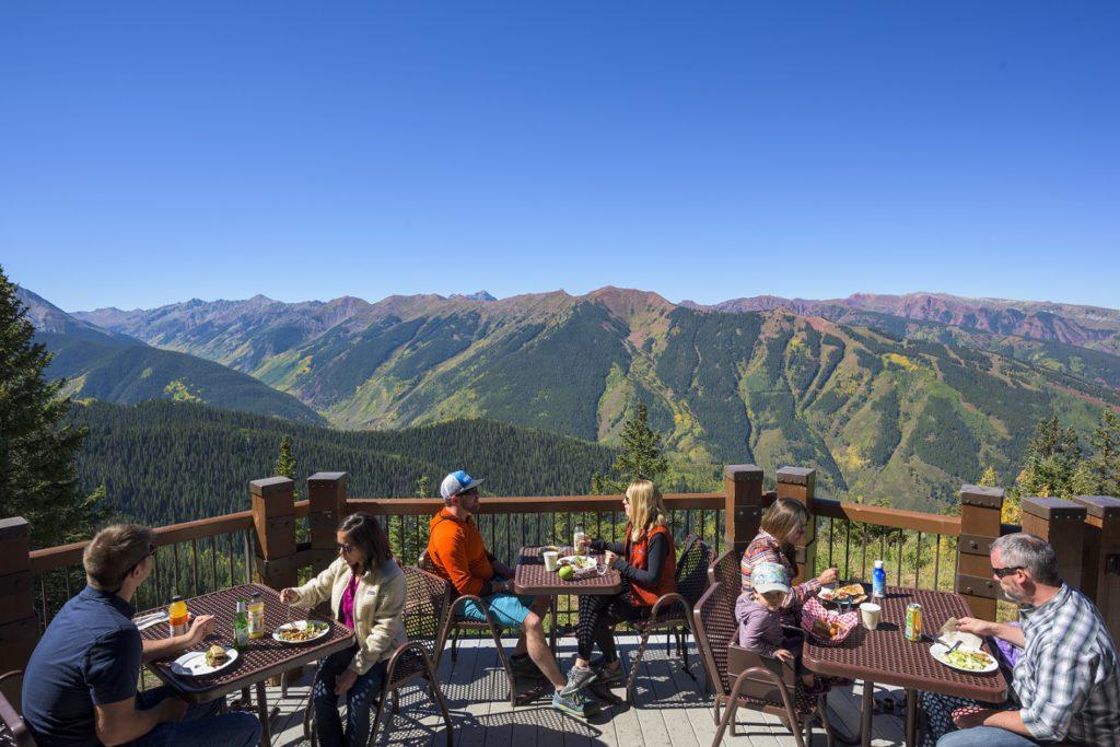 Summer dining on Aspen Mountain