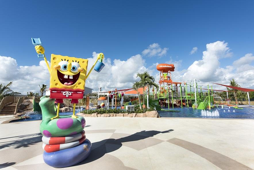 SpongeBob greets guests at Nick Punta Cana