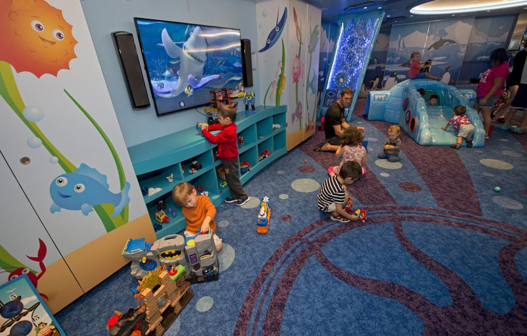 Children play in Camp Ocean onboard the Carnival Vista