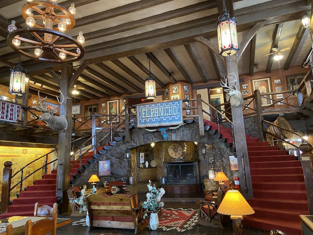 Lobby of the El Rancho Hotel