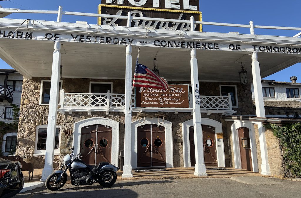 The historic hotel on Route 66