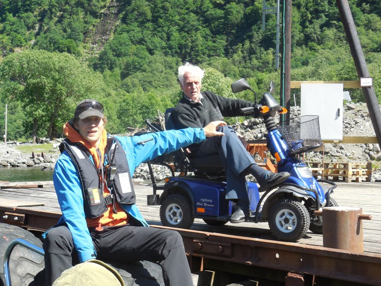 93-year-old Botolv Hov who runs cafe on Naerofjord