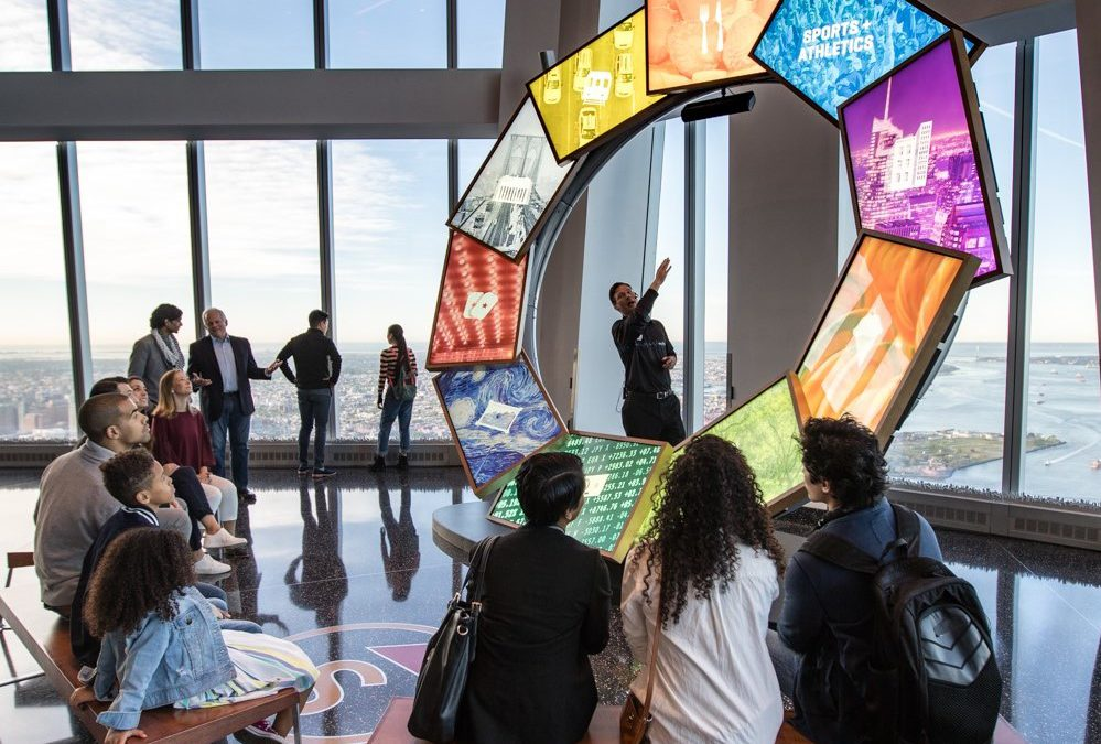 At NYC's One World Observatory: Winter ONEderland