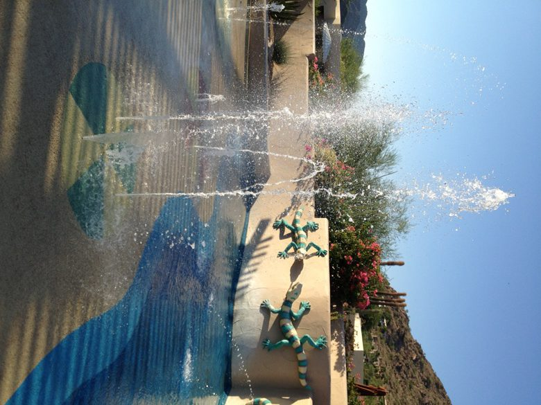 A place to cool off at Camelback Resort in Scottsdale AZ
