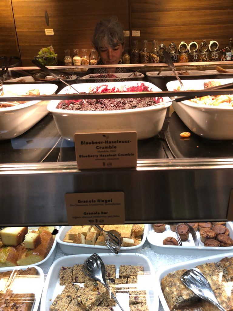 A small portion of the enormous food bar at Haus Hiltl Zurich
