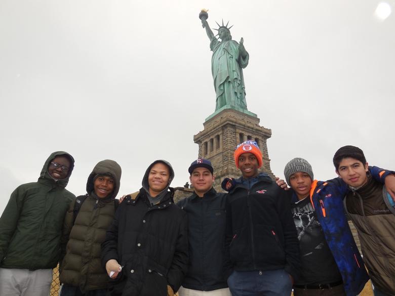 ABC Westport Boys visit the Statue of Liberty