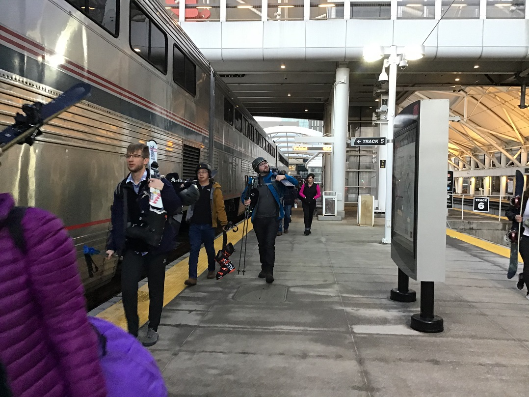 All aboard the Winter Park Express at Denver's Union Station