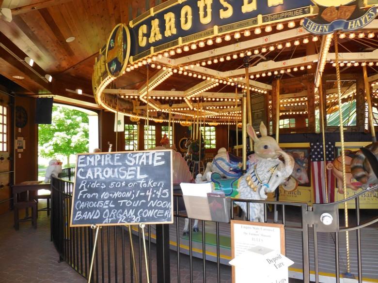 Restored carousel at Farmers Museum