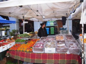 At the Ferry Plaza Farmers Market in San Francisco