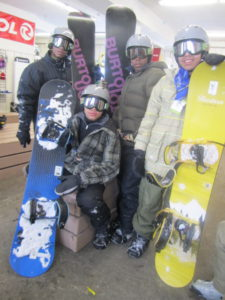 Back from a day of snowboarding lessons at Bolton Valley