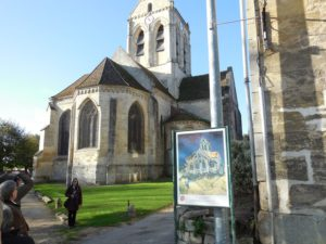 Back of church in Auvers sur Oise painted by Van Gogh