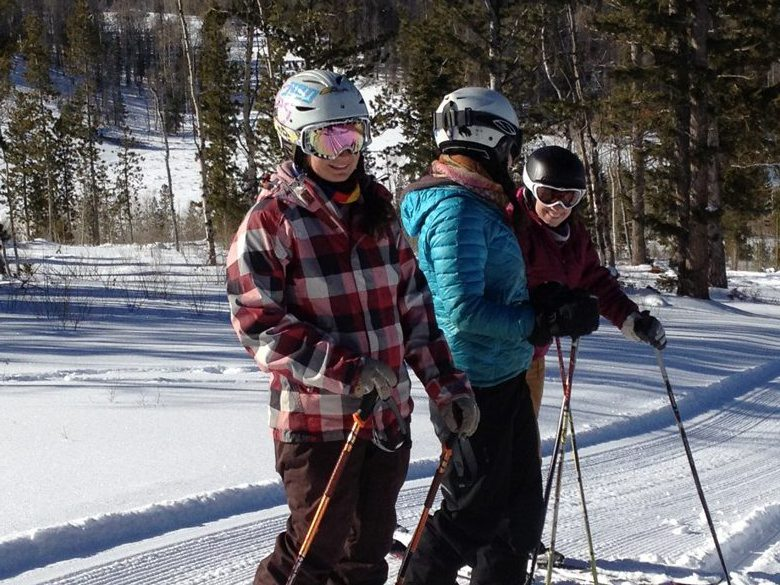 Skiing the backcountry at the C Lazy U Ranch in Colorado
