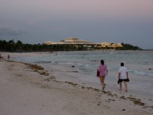 Barceló Maya Palace Deluxe seen from beach