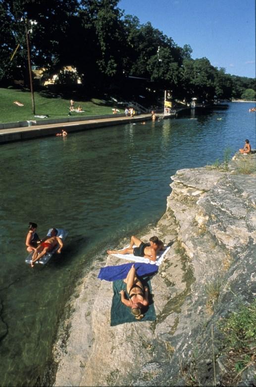 The huge Barton Springs pool in Austin TX