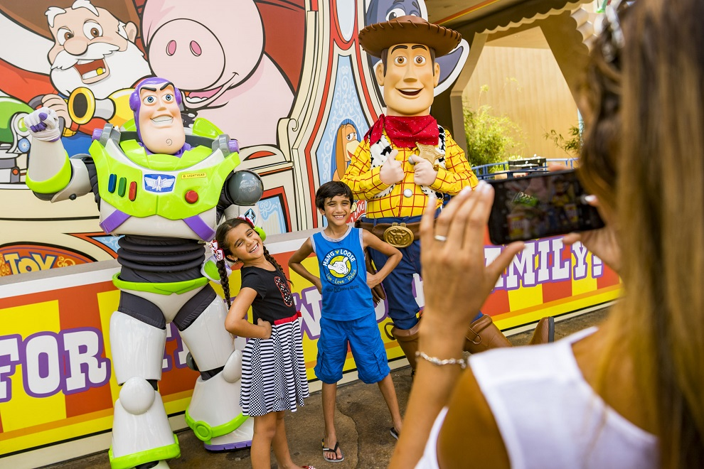 Buzz Lightyear and Woody in Toy Story Land