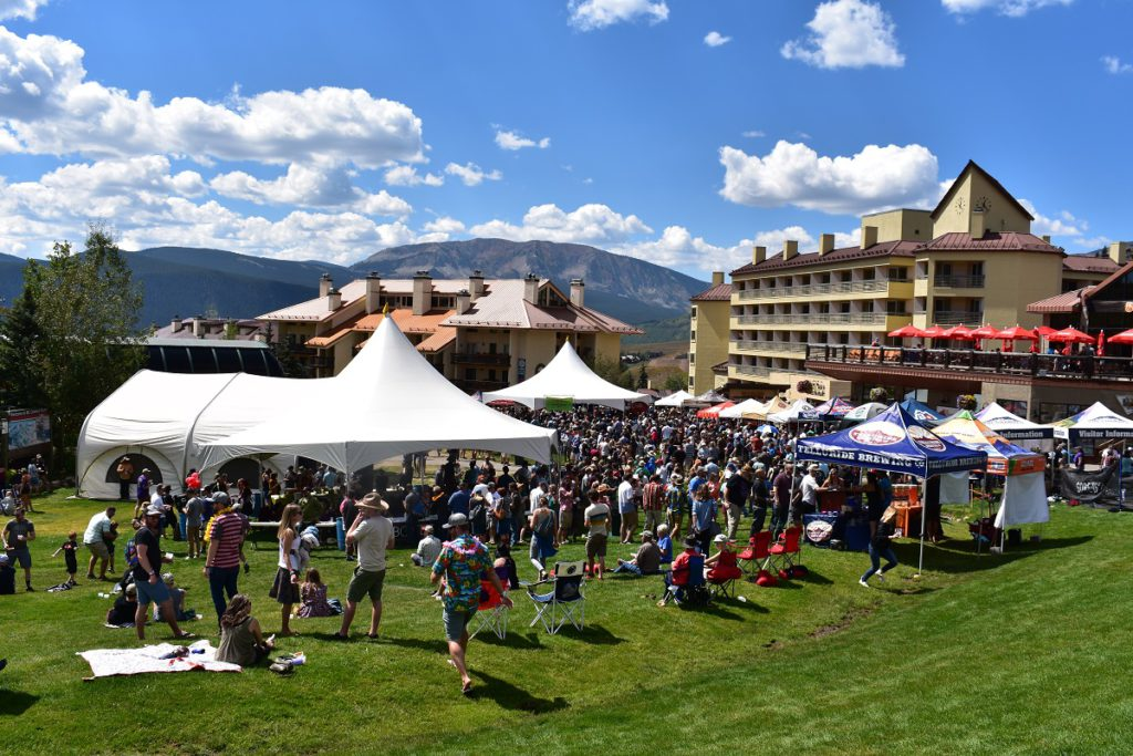 Big crowd at Crested Butte Chili and Beer Fest