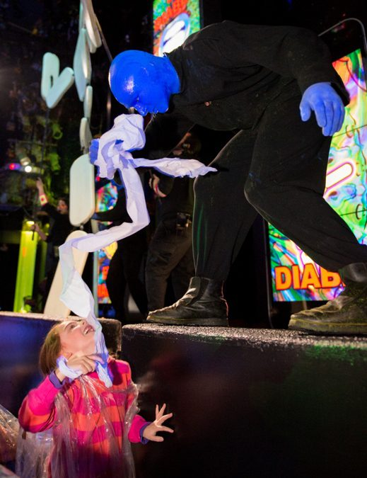 Audiences of all ages love the Blue Man Group