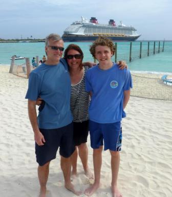 Bob Kit and Will on Castaway Cay