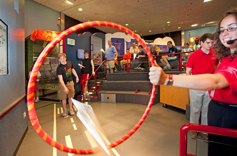 Paper airplane contest at National Air And Space Museum