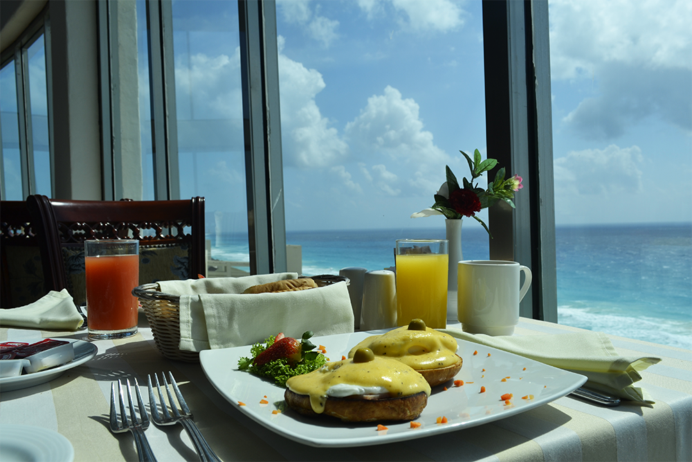 Breakfast with a view at Seadust Cancun Family Resort