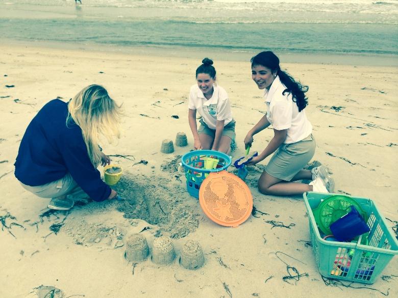 Building sandcastles on Cape Cod