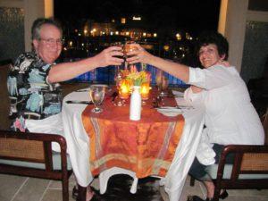 Candelight dinner at Sandals Emerald Bay