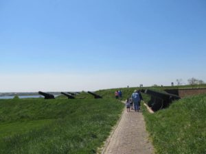 Cannons that returned fire on British Ships at Fort McHenry in War of 1812