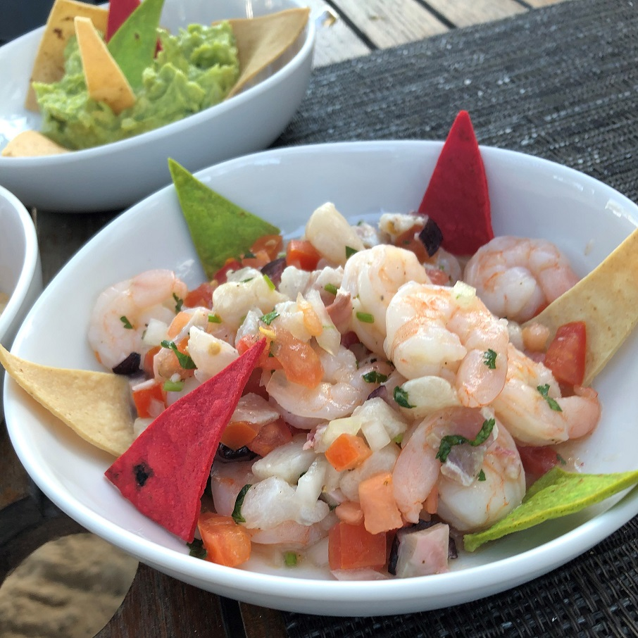 Cerviche served at Grand Residences Riviera Cancun