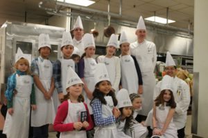 Chef and kids at Fairmont Chateau Laurier in Ottawa, Canada