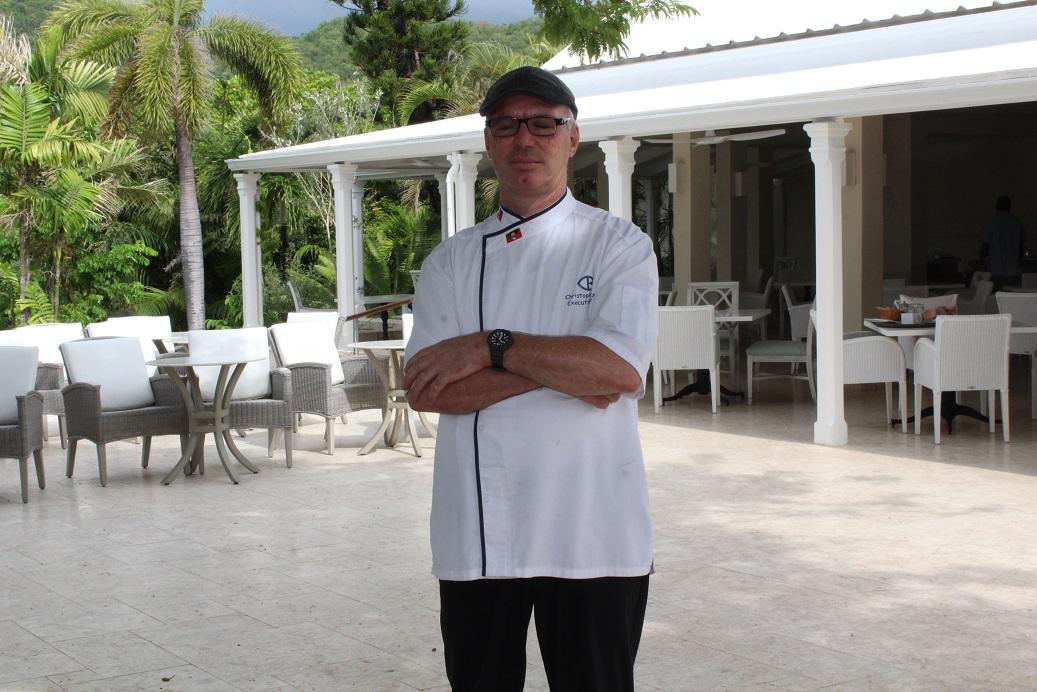 Chef Christopher Blatz at Curtain Bluff Resort