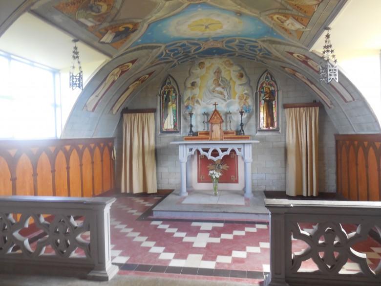 The sanctuary in the Italian Chapel