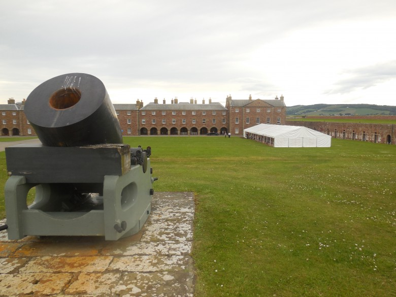 At Scotland's Fort George: a youth bagpipe band