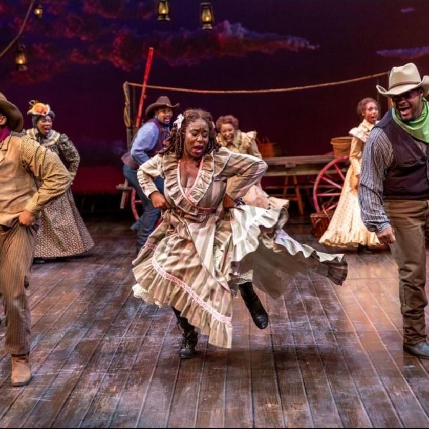 Dancing scene from Denver production of Oklahoma!