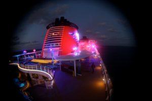 Disney Fantasy at night (photo by Eva Weinberg)