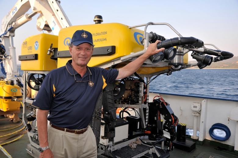 Dr. Robert Ballard the world-famous oceanographer