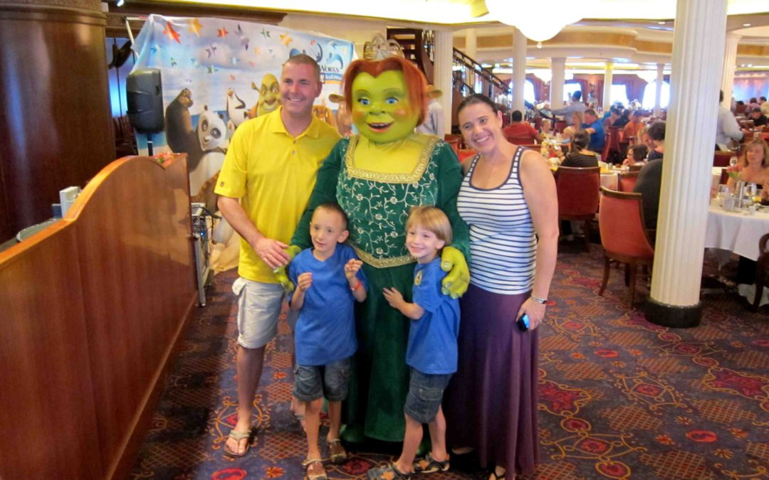 Breakfast with the Dreamworks characters