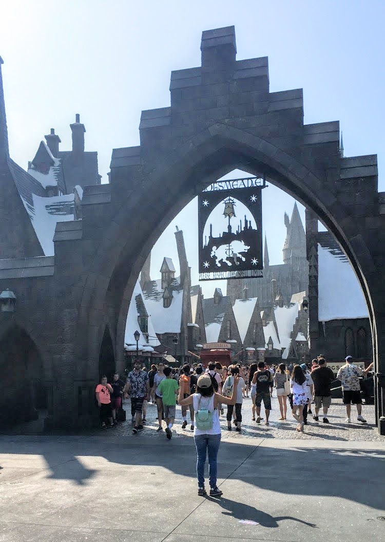 Entrance to the Wizarding World of Harry Potter at Universal Studios Hollywood