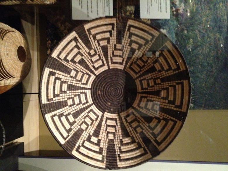 Exhition of weaving at the Heard Museum in Scottsdale AZ
