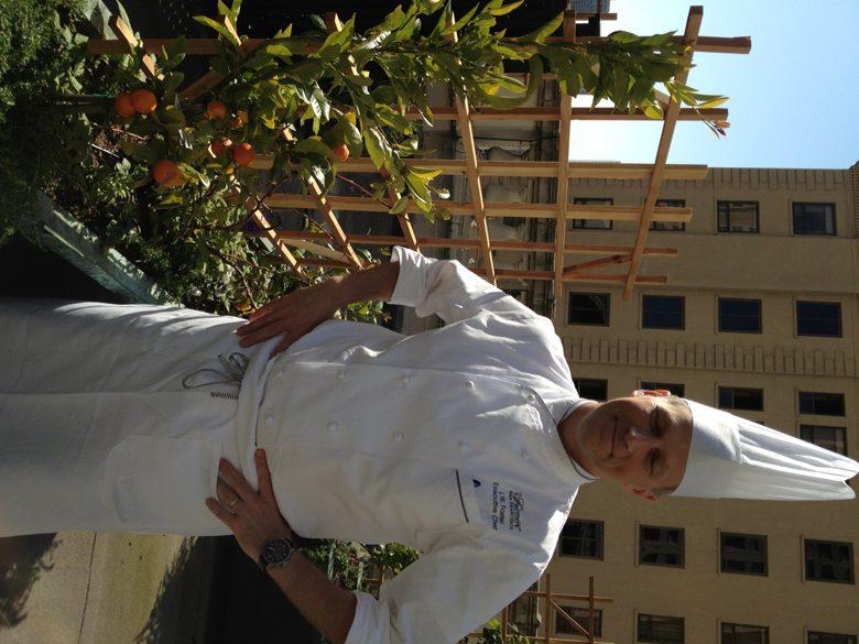 Fairmont chef jW Foster on rooftop garden in San Francisco