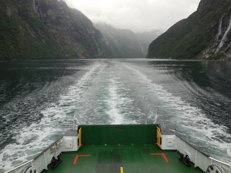 Ferry ride back to Geiranger