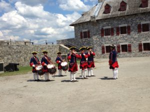 Fife and Drum Corps performing at Fort Ticonderoga